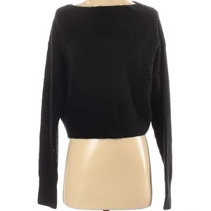 Anthropologie Line & Dot black cropped sweater